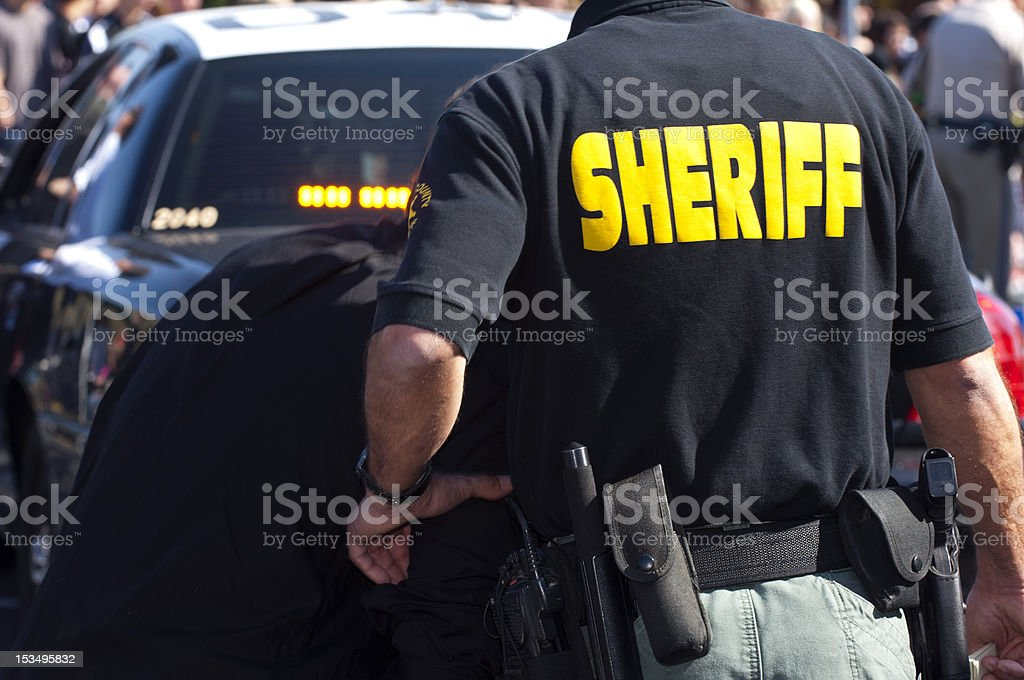 SheriffatEvent stock photo