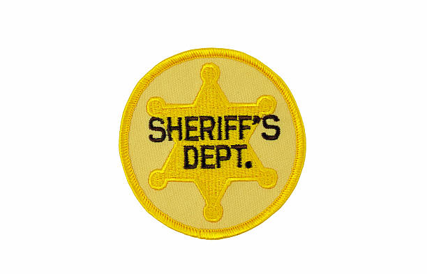 Sheriff's Department Patch stock photo