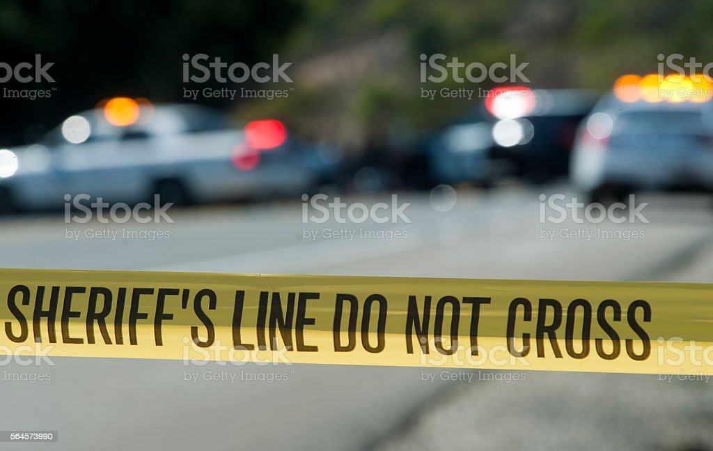 Sheriff's Line Do Not Cross stock photo