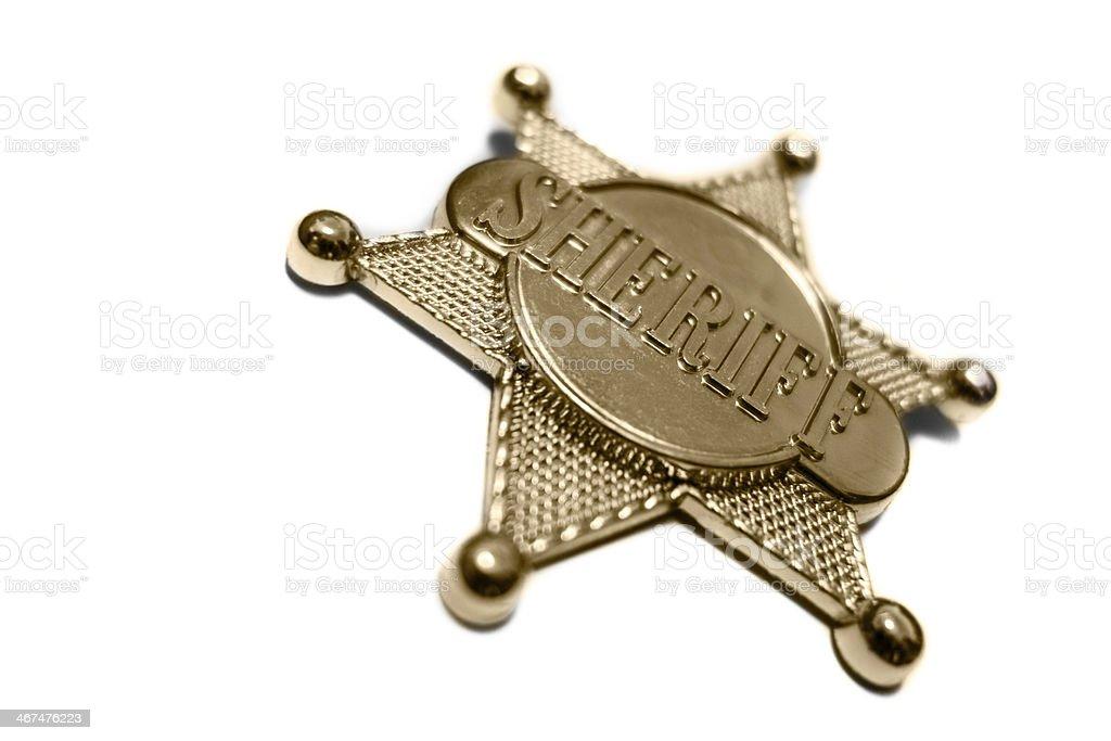 Sheriff's Star stock photo