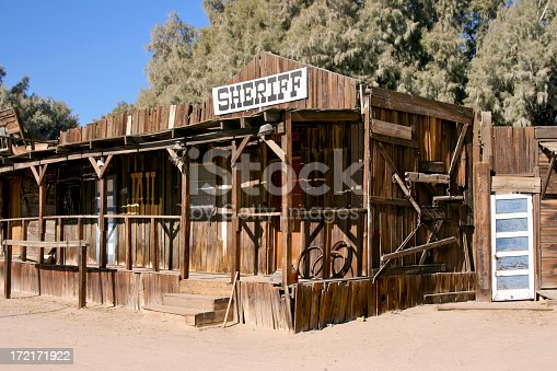 Old Western designed campground with wild west town