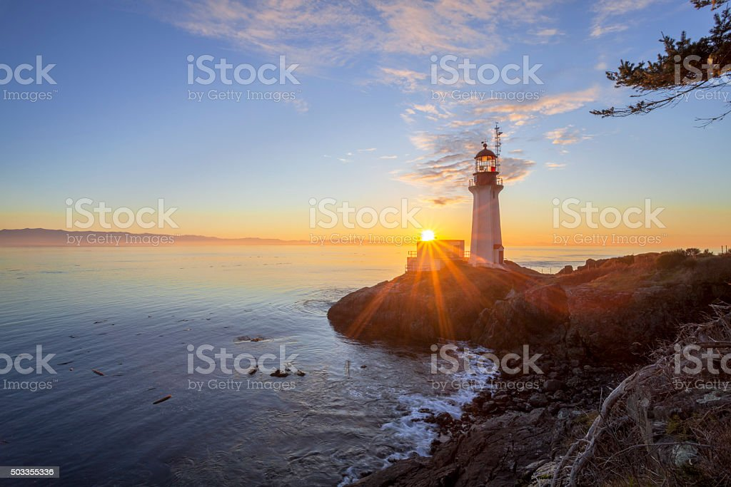 Sheringham Point Lighthouse stock photo
