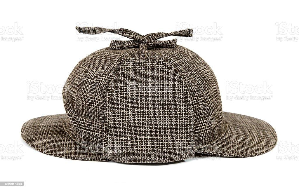 Llamado deerstalker Sherlock Holmes sombrero foto de stock libre de derechos 6315ba5e1d9