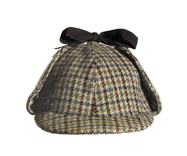 Sherlock Holmes Hat Sherlock Holmes hat front view isolated on white background sherlock holmes stock pictures, royalty-free photos & images