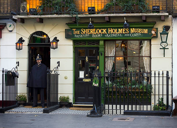 sherlock holmes museum, london - sherlock holmes stock photos and pictures