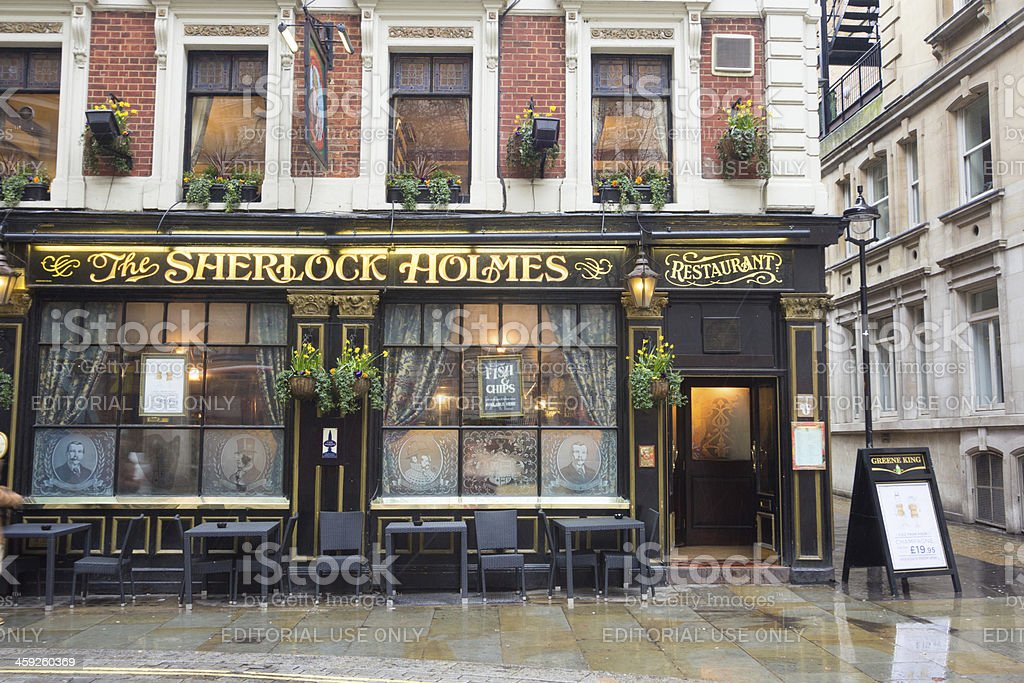 Sherlock Holmes Pub in London, England royalty-free stock photo