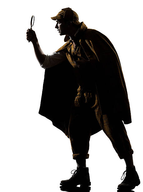 sherlock holmes silhouette - sherlock holmes stock photos and pictures