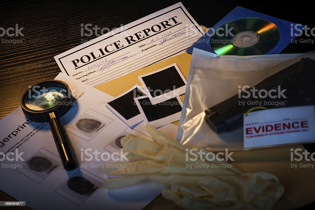 Sherlock wannabe stock photo