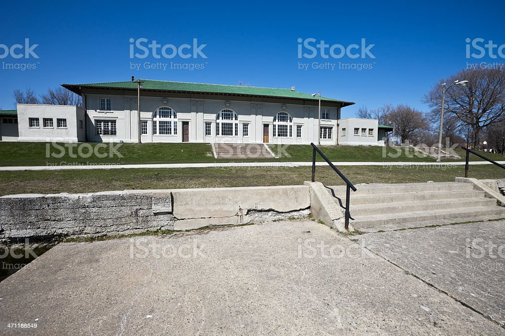 Sherman Park Field House Chicago royalty-free stock photo