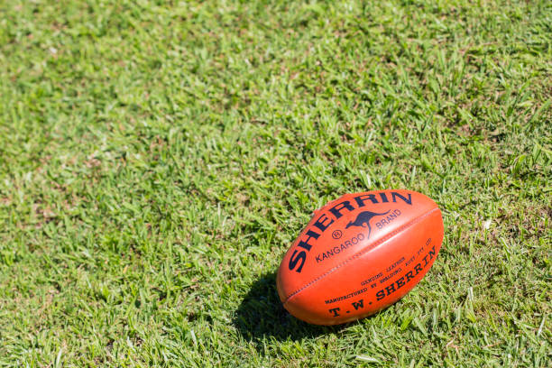 Sherrin AFL Football stock photo