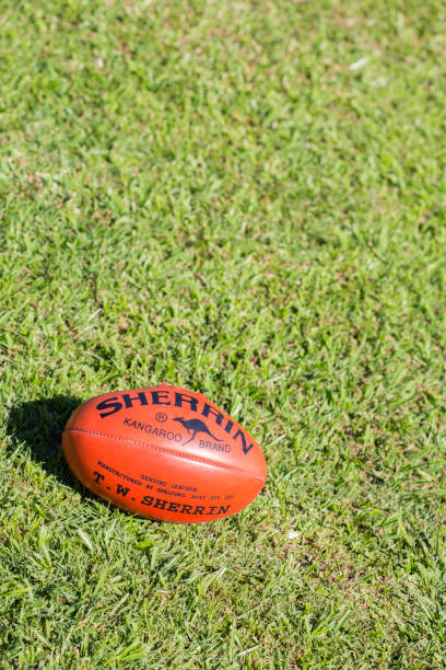 Sherrin AFL Football stock photo