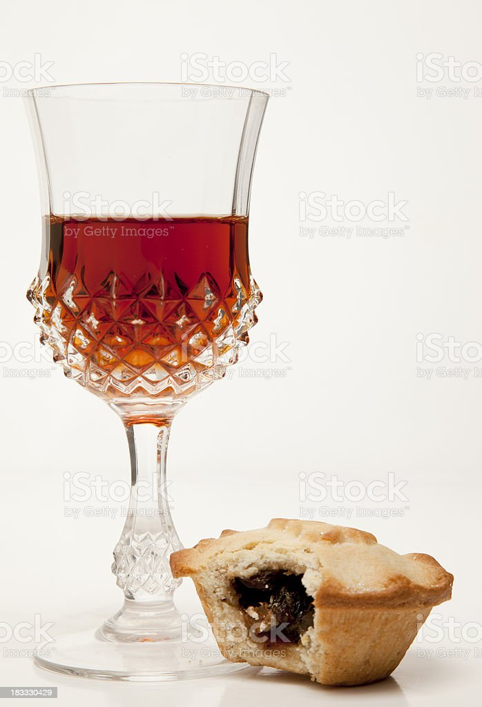 Sherry and Mince Pie stock photo