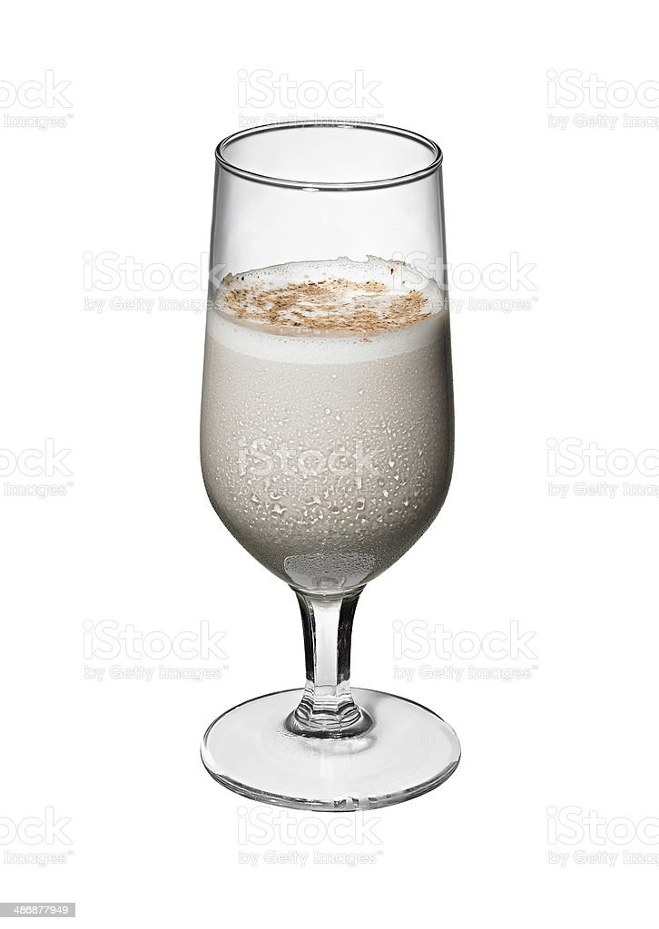 Sherry Flip Cocktail stock photo