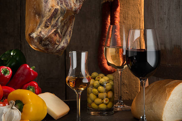 Sherry, rote und weiße Weine, spanischen Stil – Foto