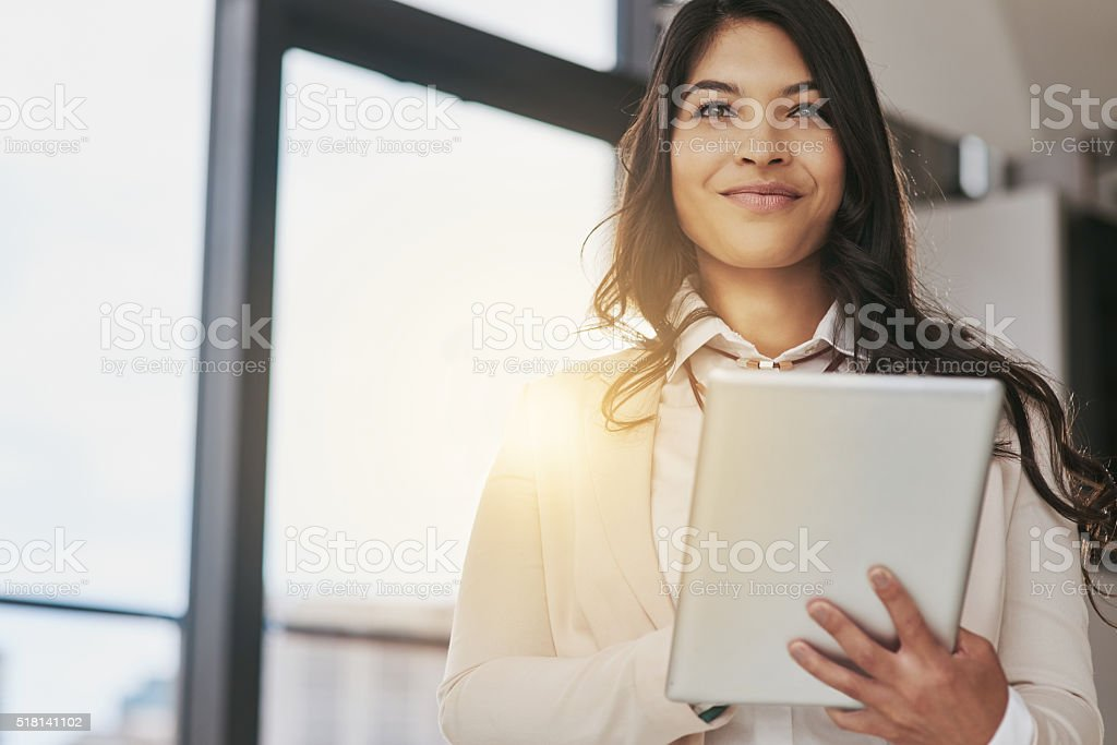 She's a business visionary stock photo