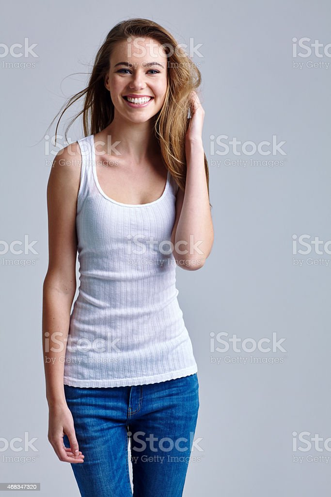 She's a carefree beauty royalty-free stock photo