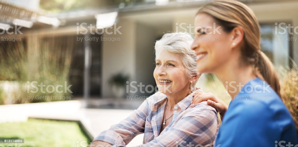 She's a carer by nature stock photo