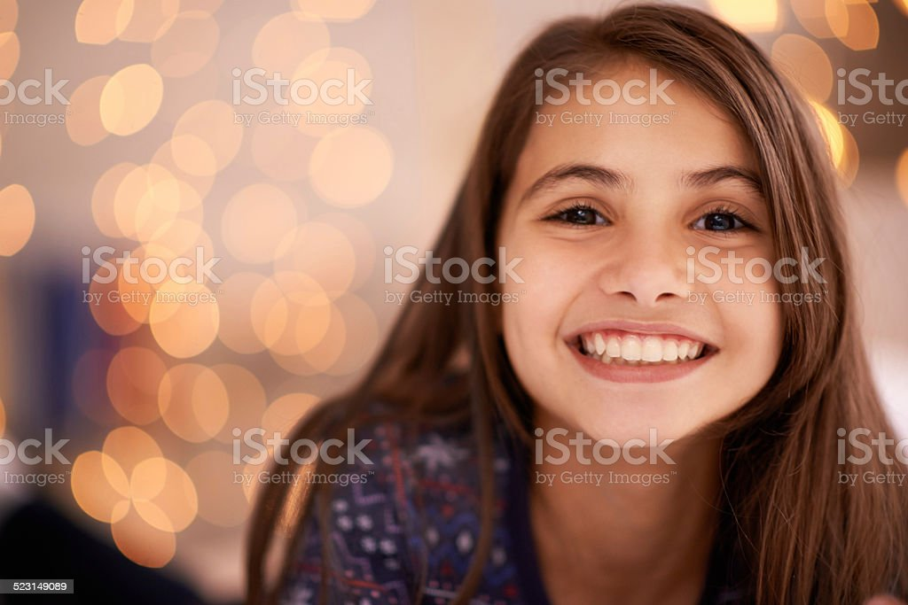 She's a chipper child stock photo