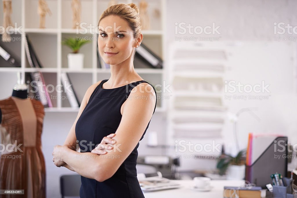 She's a confident businesswoman stock photo
