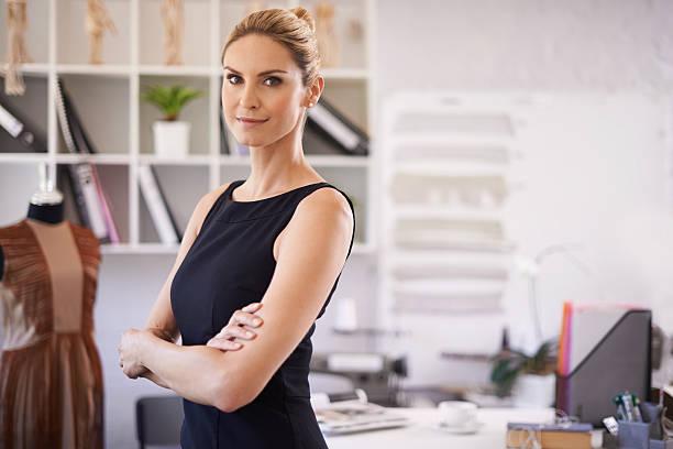 She's a confident businesswoman stock photo