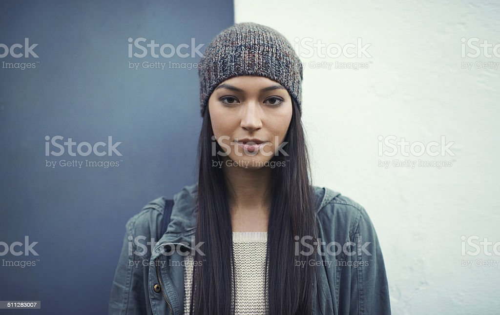 She's a confident woman stock photo