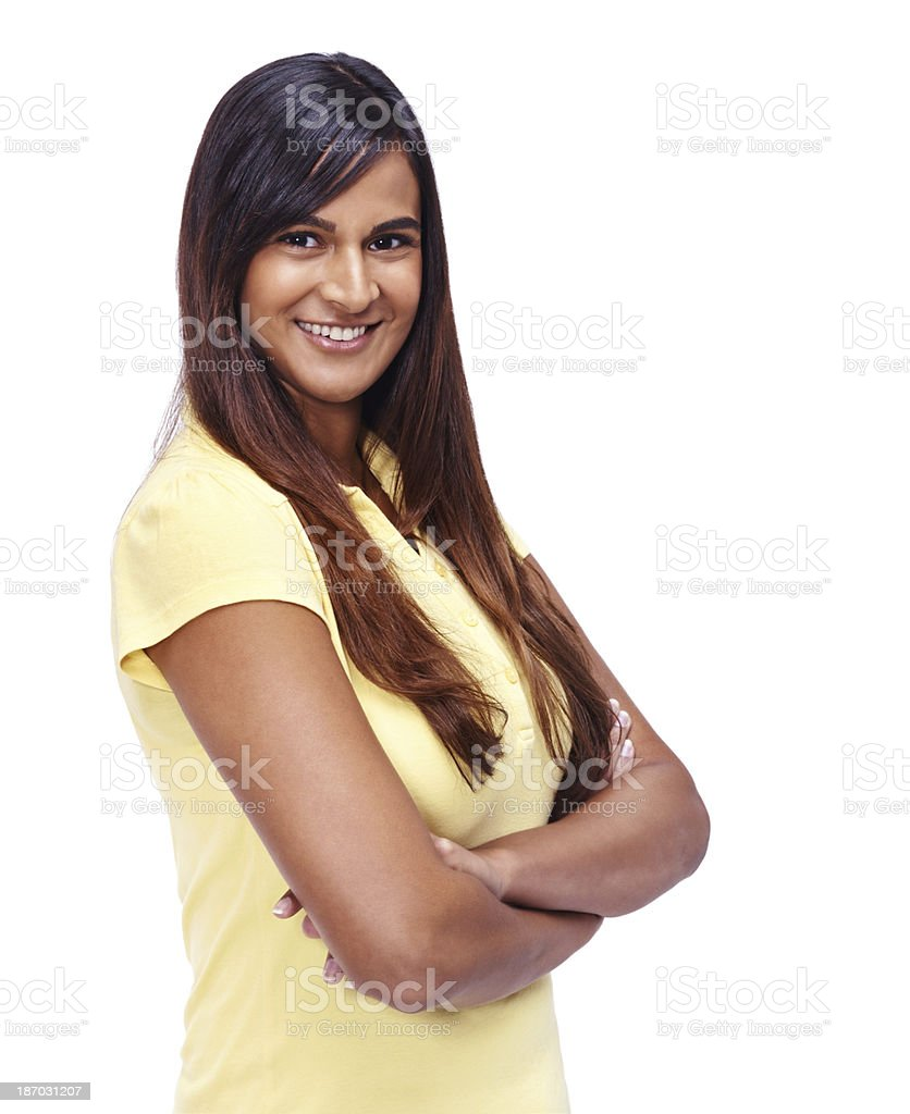 She's a confident young woman royalty-free stock photo