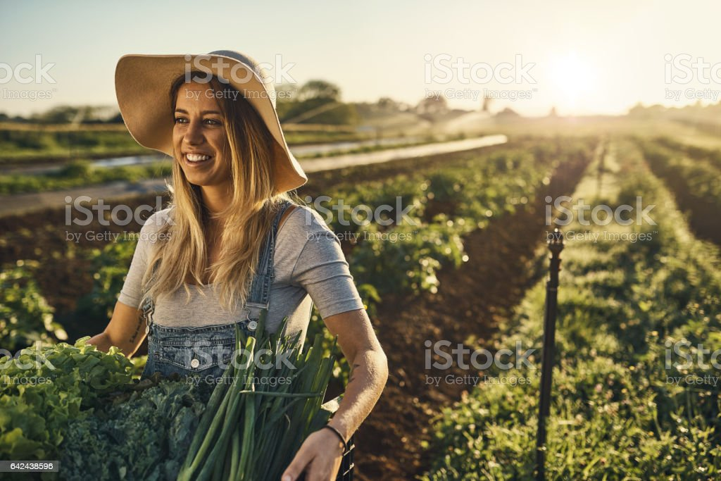 She's a country girl at heart stock photo
