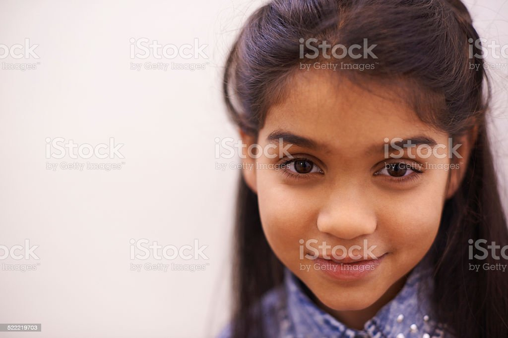 She's a cutie stock photo