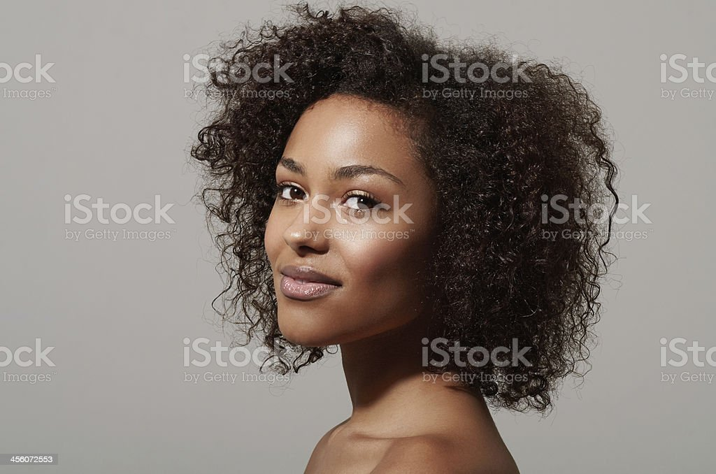 She's a down to earth beauty stock photo