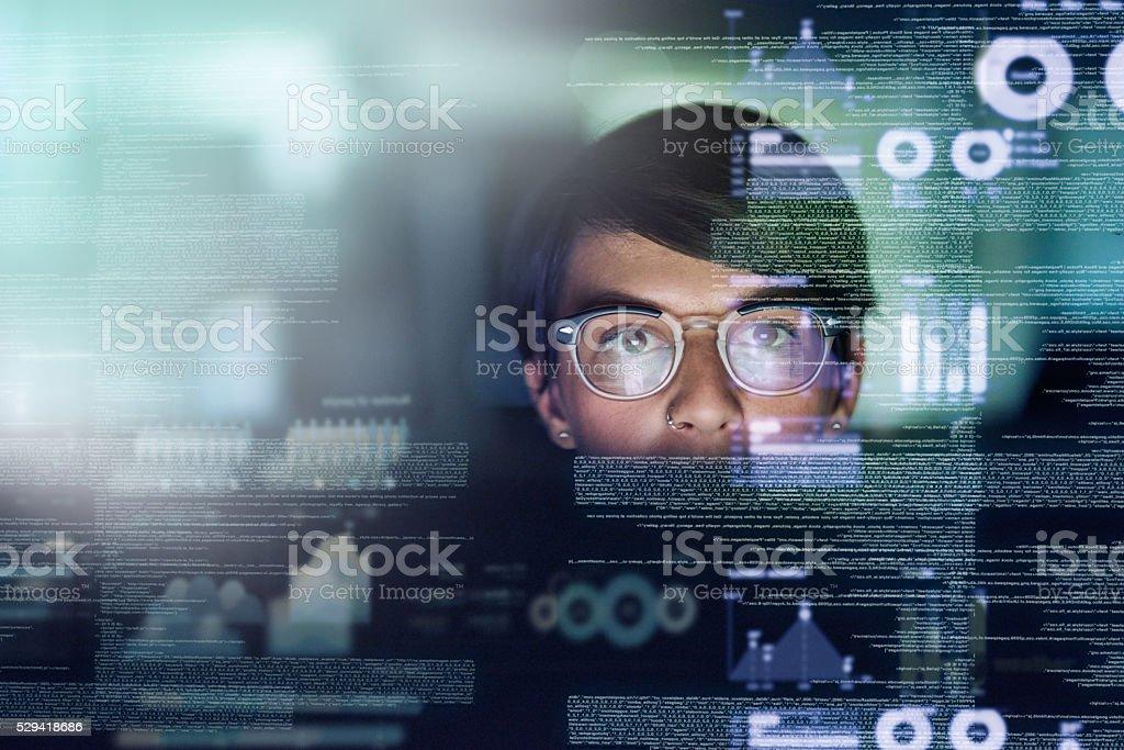 La paciente es un programador de genialidad - foto de stock