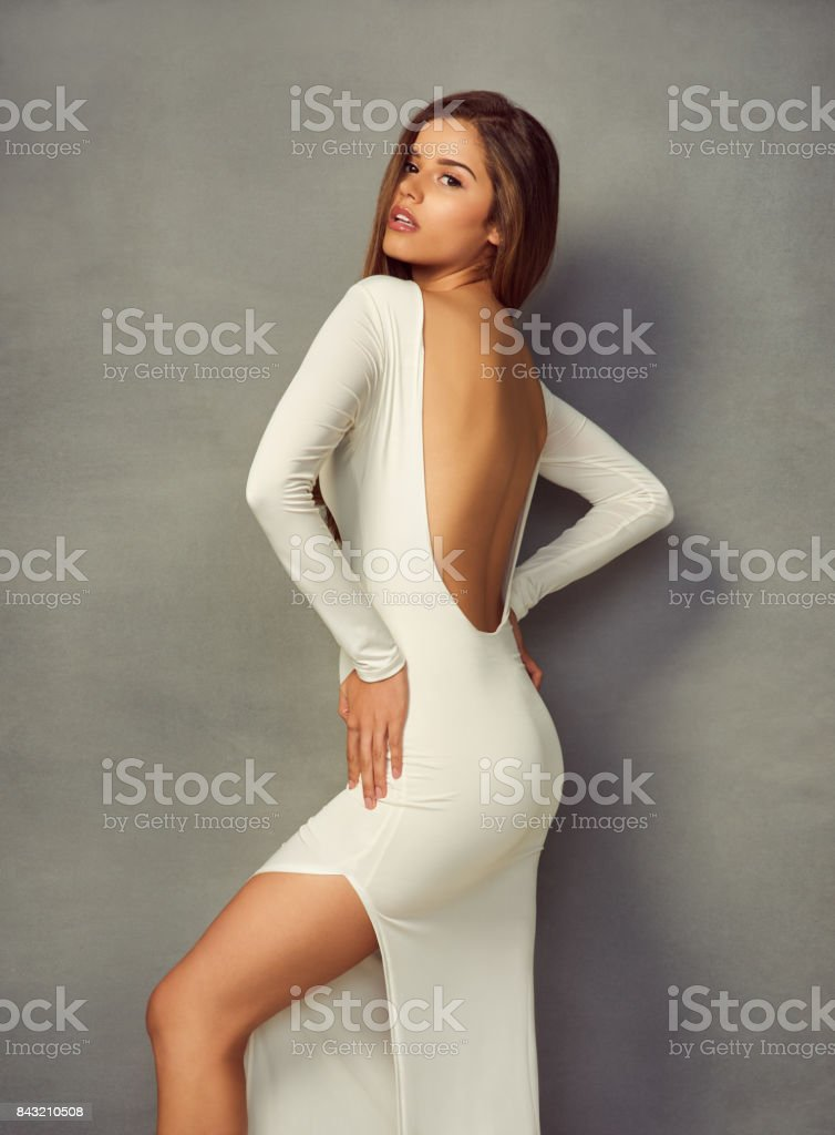 She's a glamorous beauty stock photo