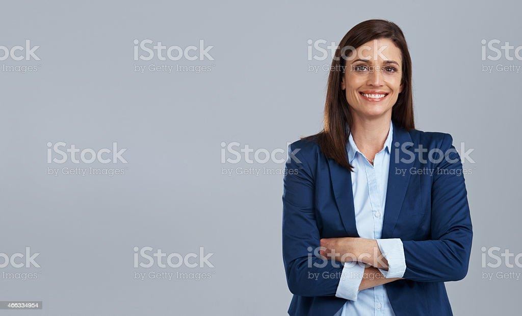 She's a go-getter stock photo