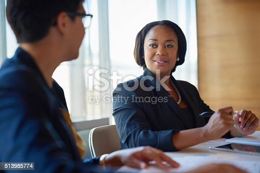 istock She's a great asset to the company 513985774