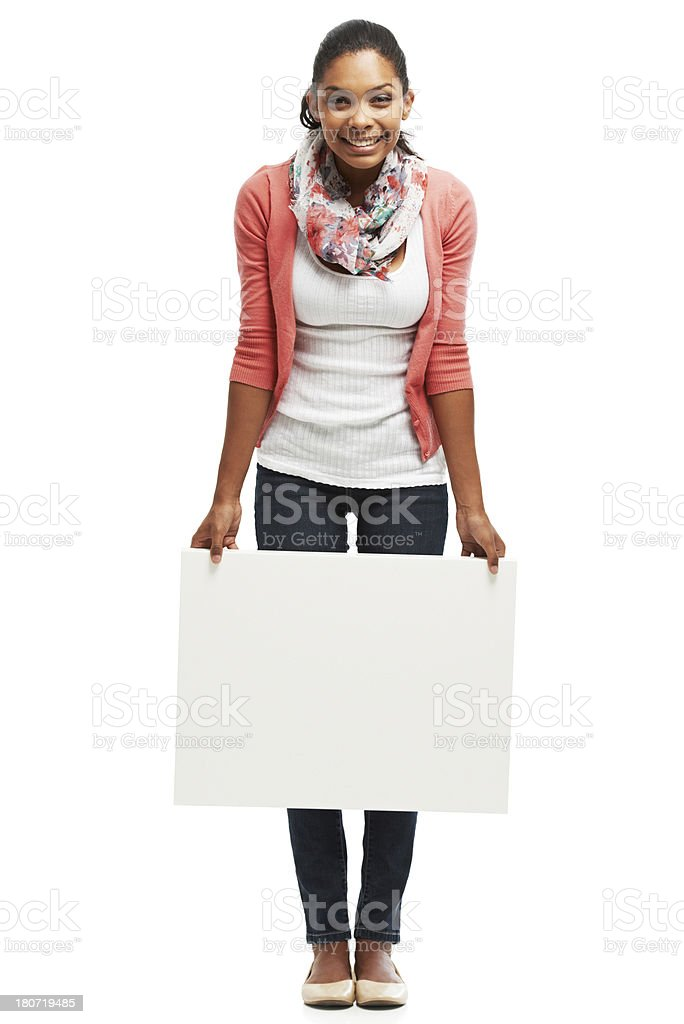 She's a great brand embassador! royalty-free stock photo