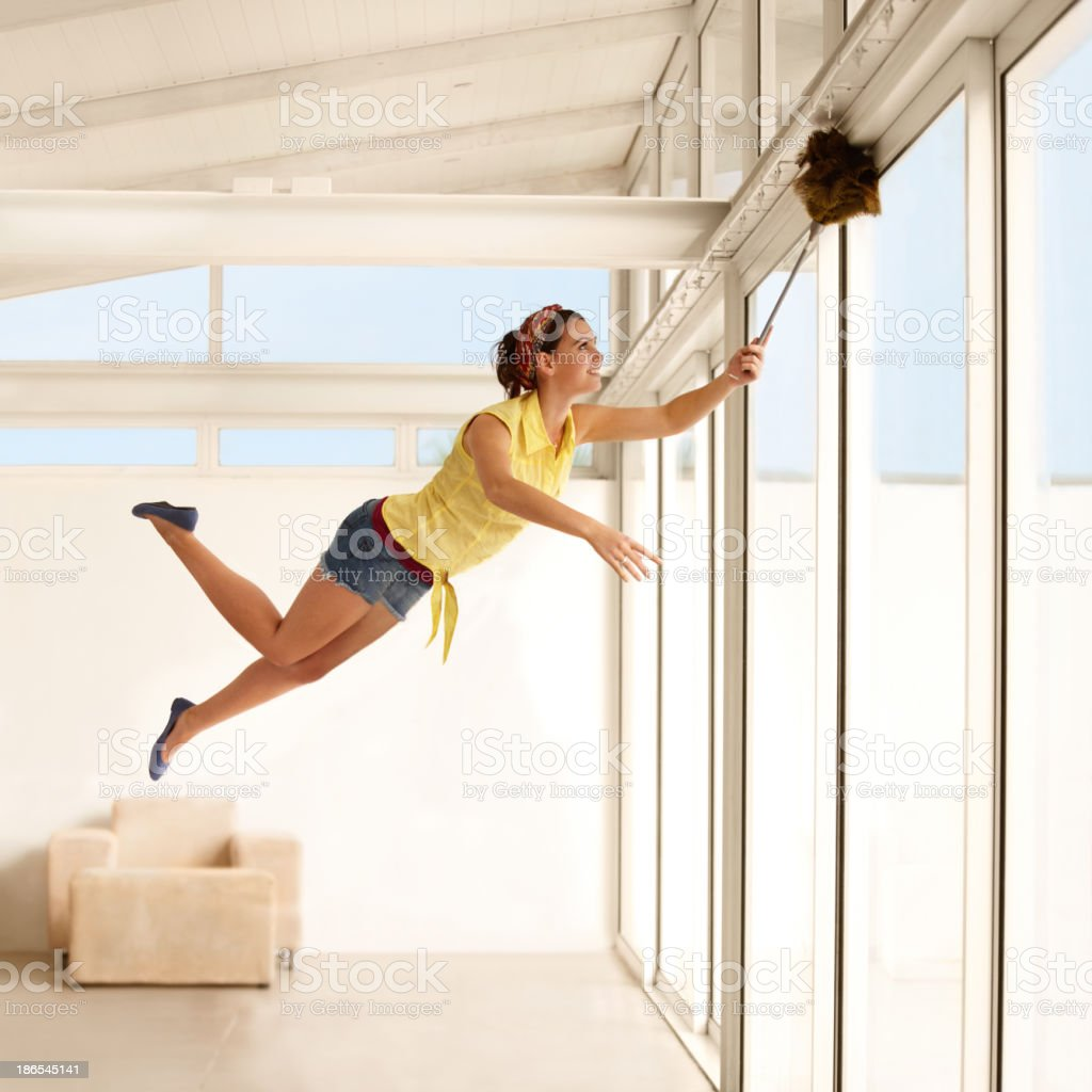 She's a housework fairy! stock photo