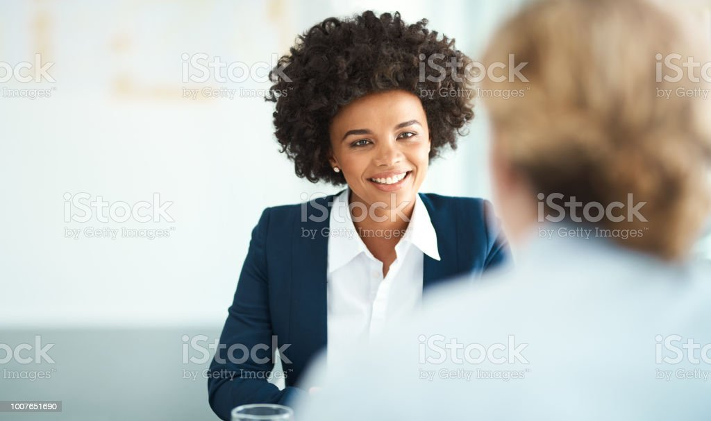 She's a leader in her field stock photo
