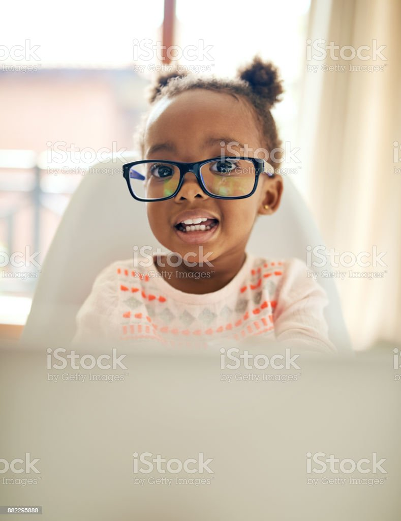 She's a modern day kid stock photo