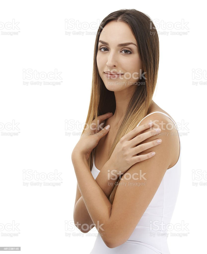 She's a natural beauty stock photo