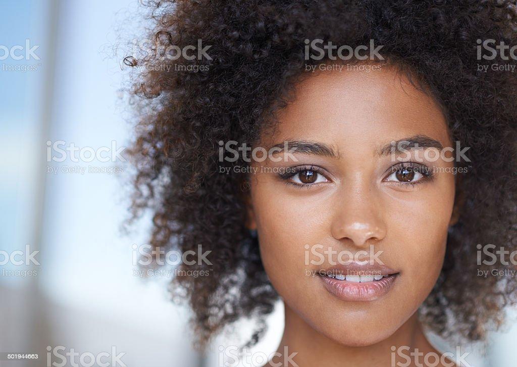 Ella es una belleza natural - foto de stock
