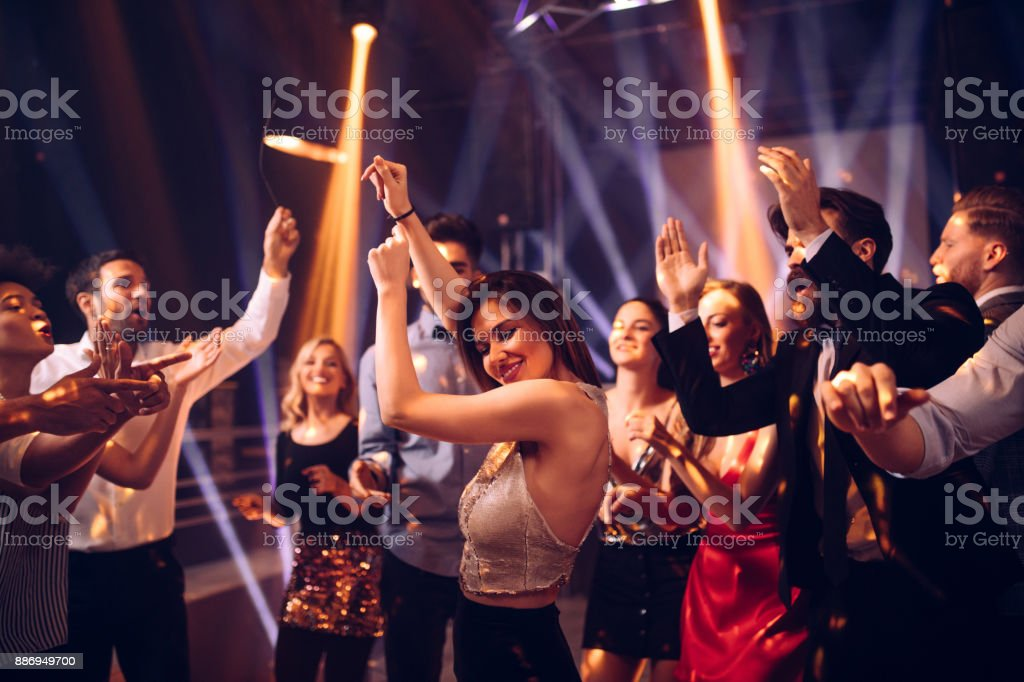 She's a party animal royalty-free stock photo