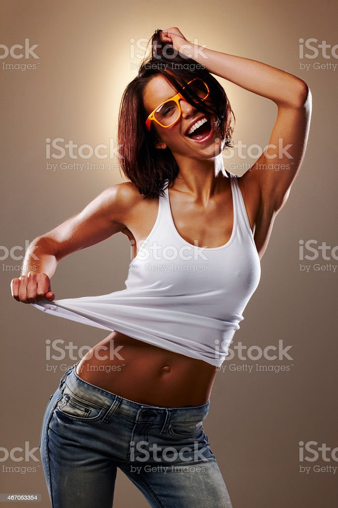 She's a party girl stock photo