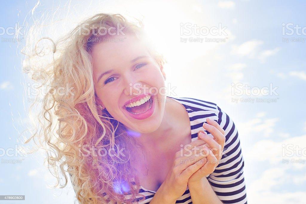 She's a ray of sunshine stock photo