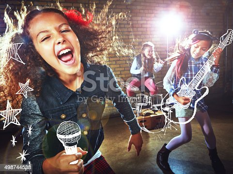 istock She's a rockstar in the making! 498744538