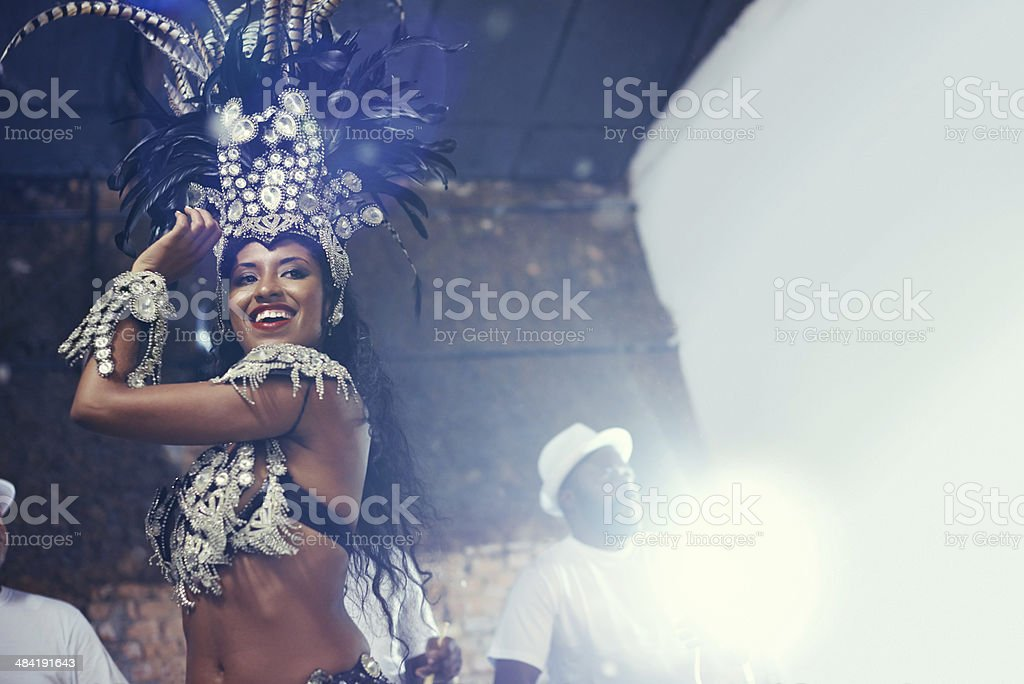 She's a scintillating samba queen stock photo