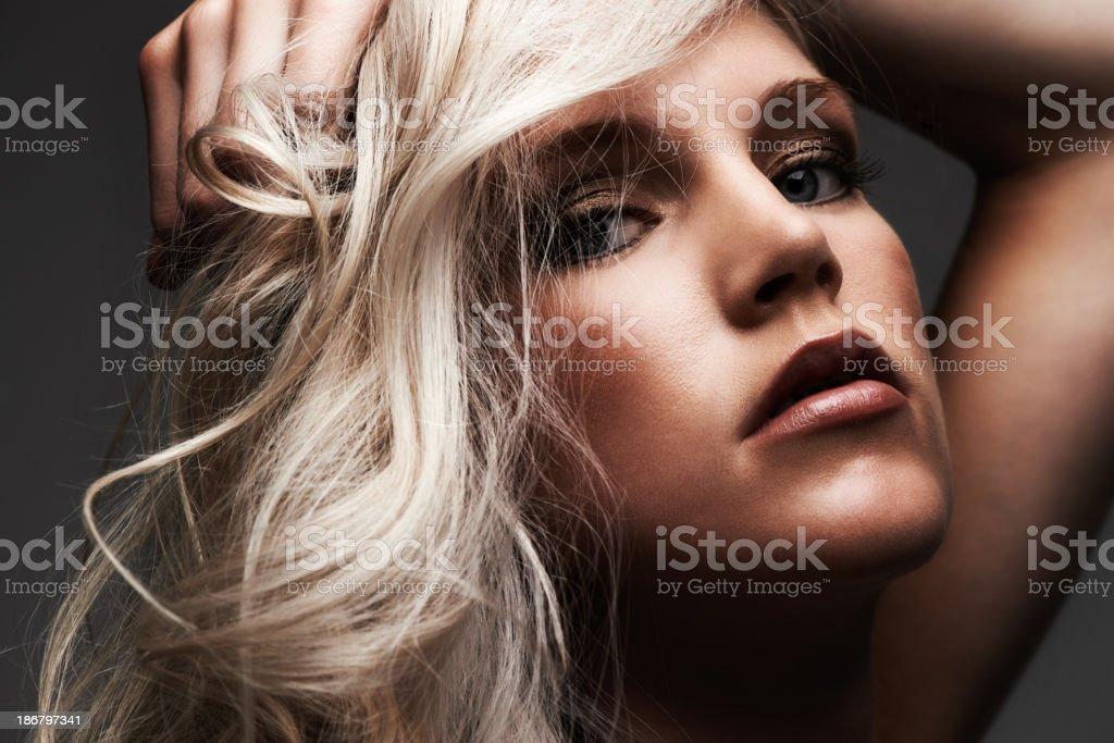 She's a seductive beauty royalty-free stock photo