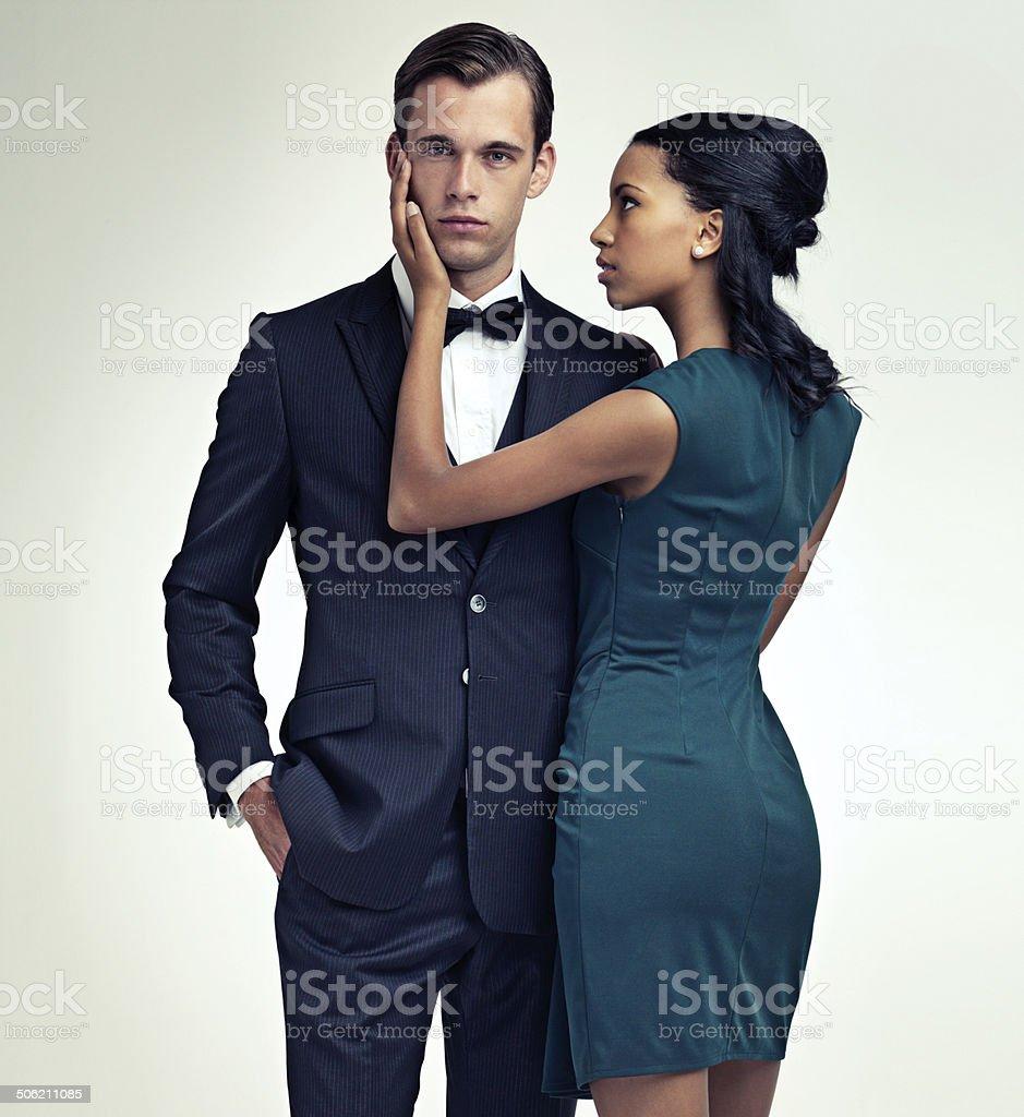 Sie ist eine sucker für ein Mann in einem Anzug Lizenzfreies stock-foto