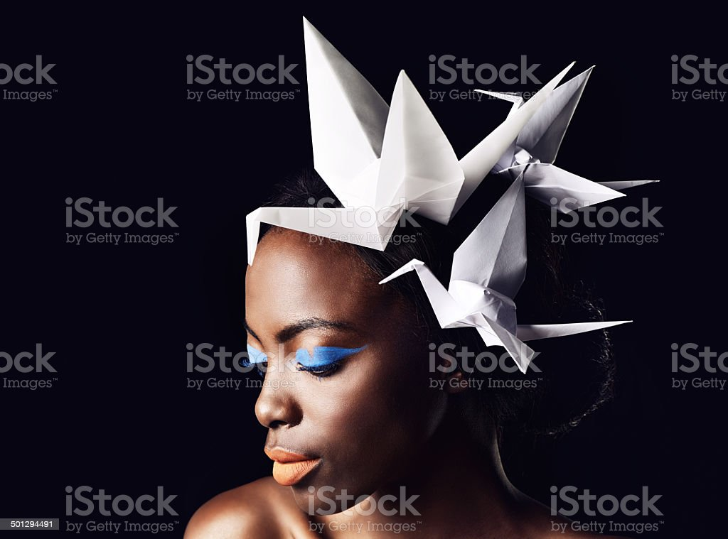 She's a symbol of African beauty stock photo