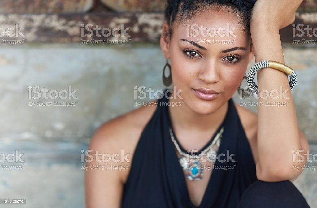 She's a true beauty stock photo