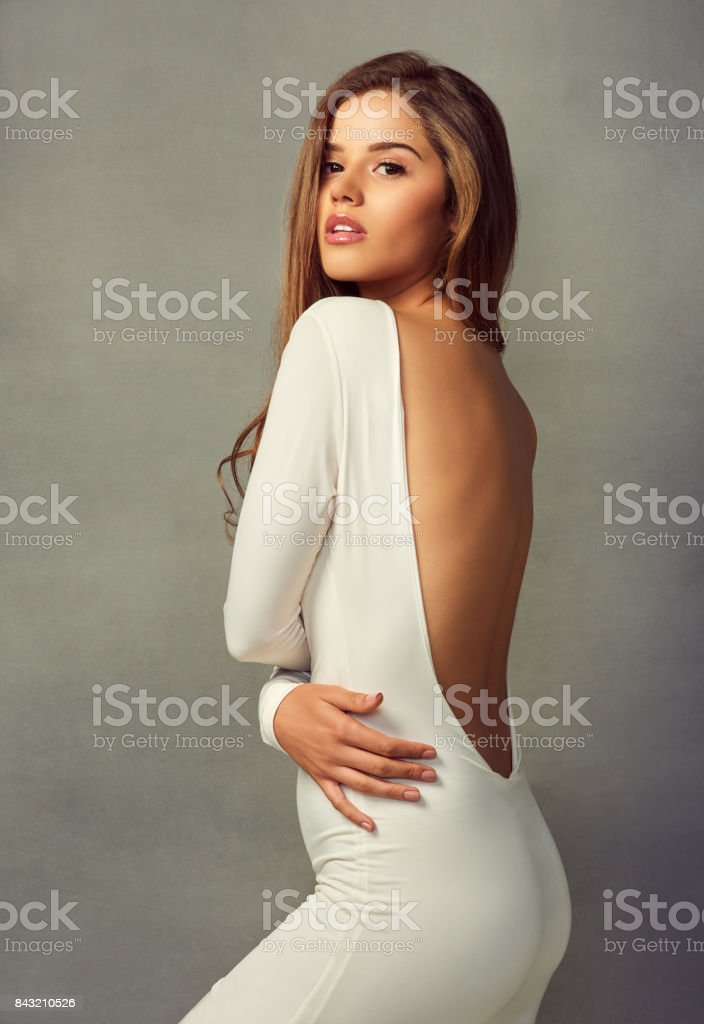 She's a true goddess stock photo