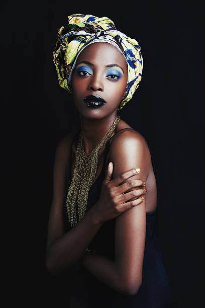 she's a true symbol of african beauty - african culture stock photos and pictures